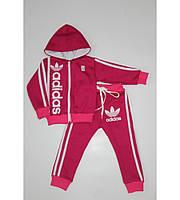 Теплый детский спортивный костюм в стиле Adidas на рост 80-140 см