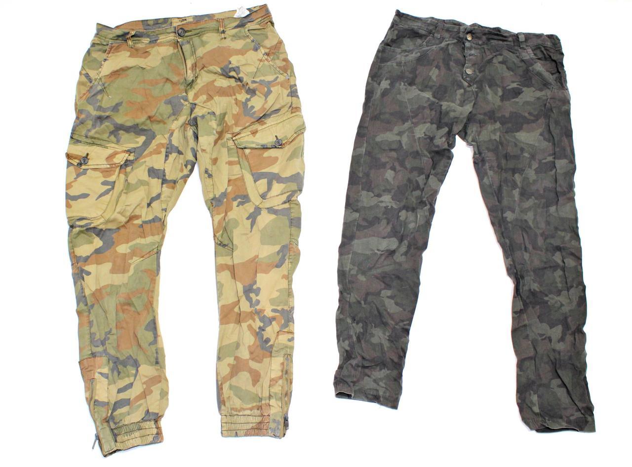 Секонд хенд микс военной одежды, милитари, штаны куртки комуфляж Опт от 25 кг