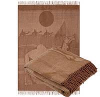 Ковдру з верблюжої вовни з принтом 140х200
