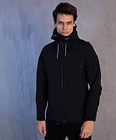 Мужская осенняя куртка Pobedov Soft Shell Jacket Dark Blue
