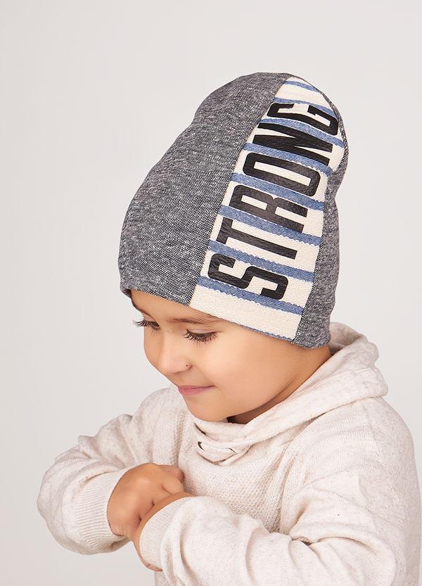 Детская шапка ГОТЬЕ для мальчиков оптом размер 46-48-50