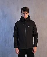Мужская осенняя куртка Pobedov Soft Shell Jacket Black
