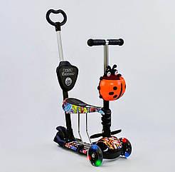 Самокат Best Scooter 15600 Чорно - помаранчевий 5в1 Mini 74071