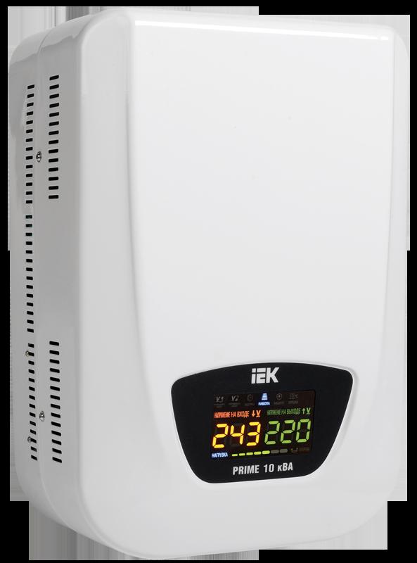 Стабилизатор напряжения Prime 10 кВА симисторный настенный, IEK