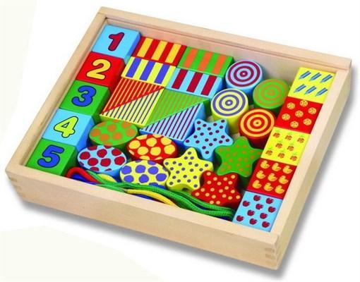 Игровой набор для малышей деревянные фигурки с нитью Viga Toys 58505