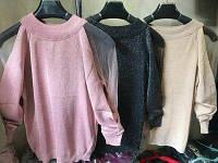 Разные цвета  Женские стильные кофты с люрексом Рукав сетка, фото 1
