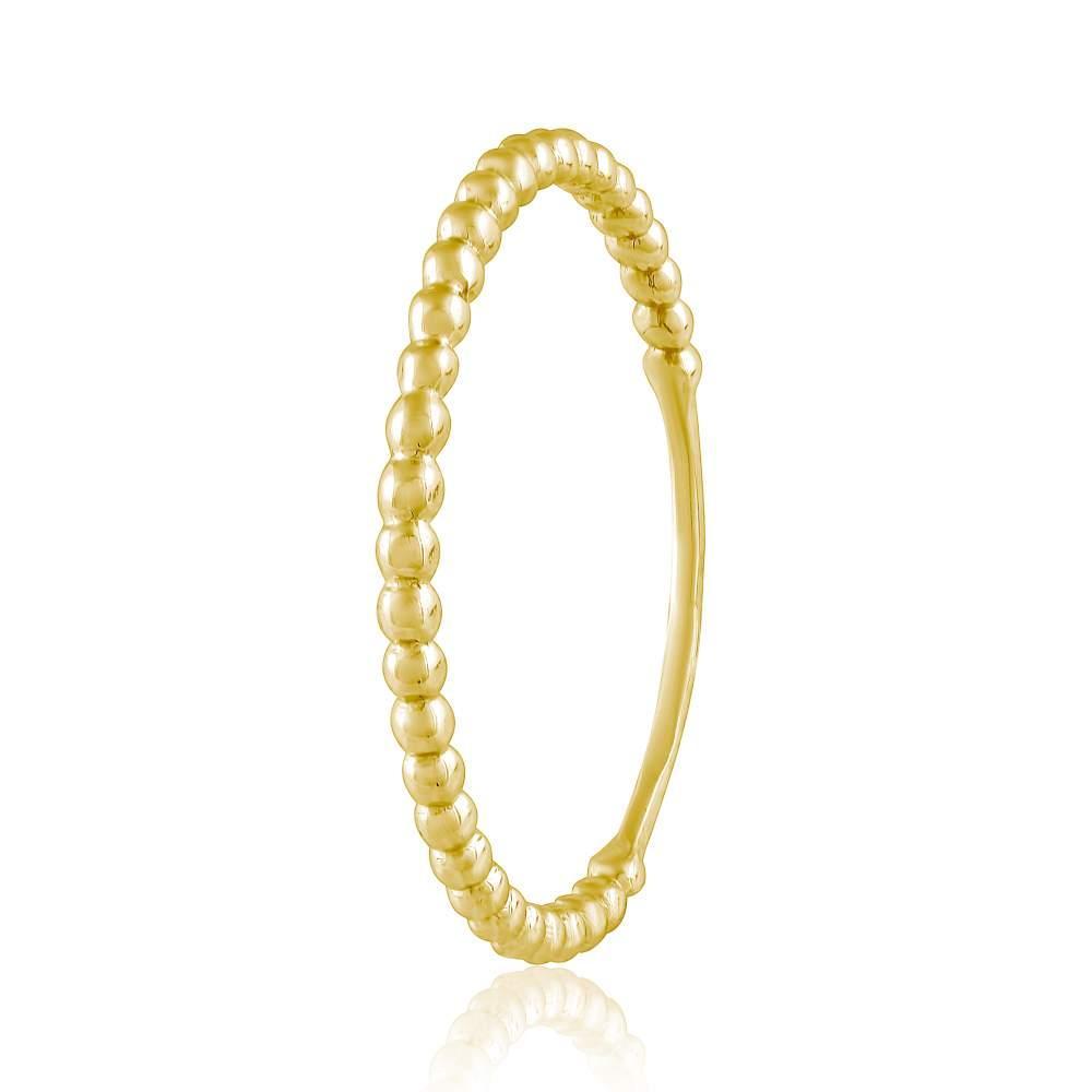 """Кольцо золотое тонкое, без камней, в стиле """"Минимализм"""", КД0527/2 Eurogold"""