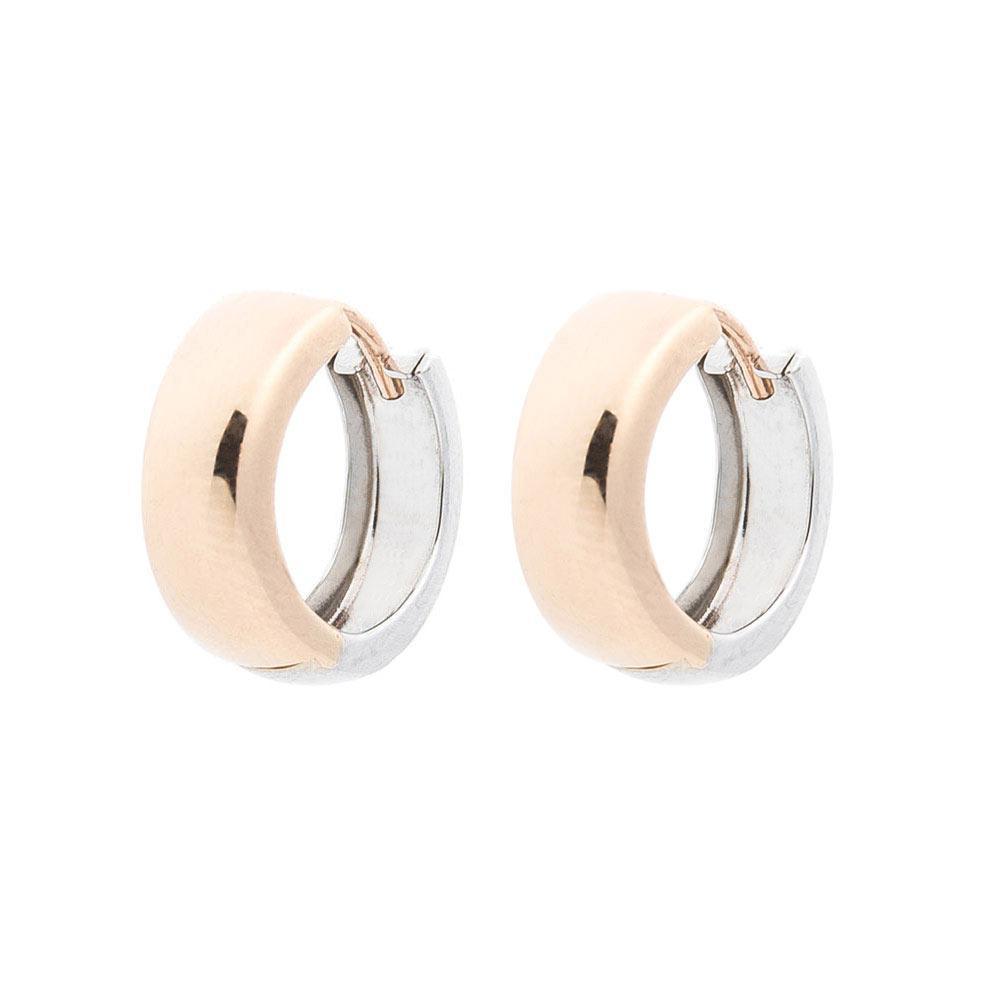 Золотые серьги-кольца без камней гс05029