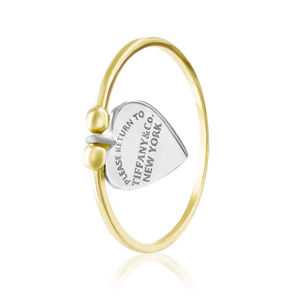 """Кольцо золотое с подвеской Tiffany """"Энергия Нью-Йорка"""", КД2061/2 Eurogold"""