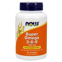 Жирні кислоти NOW Foods Super Omega 3-6-9 1200 mg