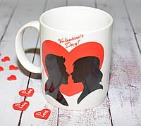 """Чашка для влюбленных  """"Valentines Day"""""""