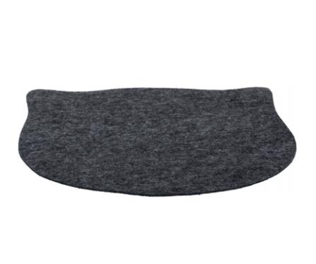 Коврик под миски Морда Кота, войлок, 45 × 37 см, серый