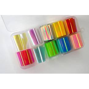 Фольга битое стекло набор Rainbow, 10 видов