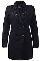 24325 Пальто темно-серое с заклепками Lois