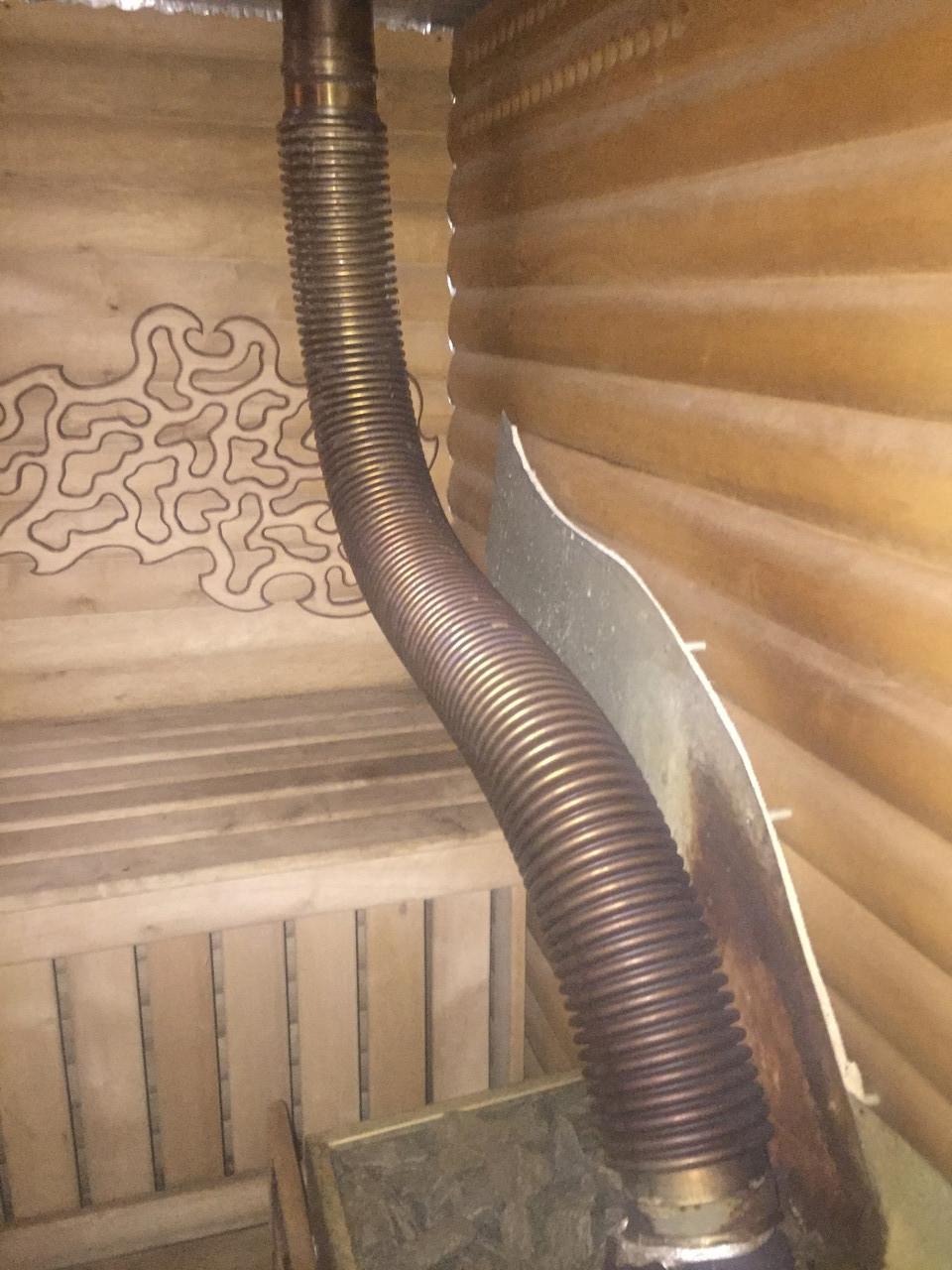 Металлорукав нержавеющий (гибкий дымоход)