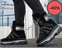 cfa5de809184 Распродажа зимней обуви Зимние женские ботинки GL 324 черные мех