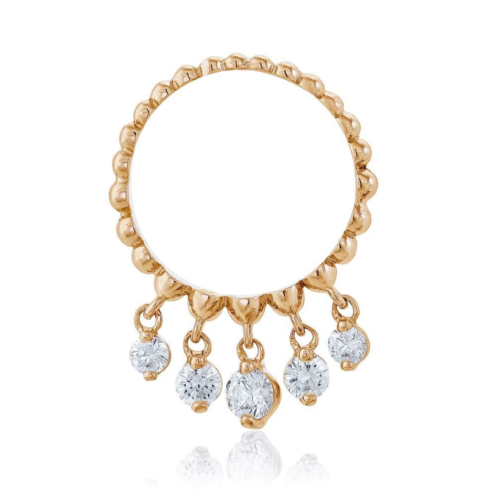 """Кольцо золотое с камнями SWAROVSKI Zirconia """"Лея"""",, КД4158SW Eurogold"""