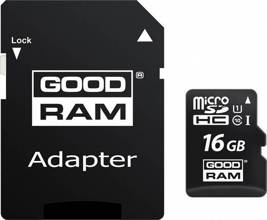 Карта памяти Goodram microSDHC 16GB UHS-I class 10 + adapter (M1AA-0160R11), фото 2