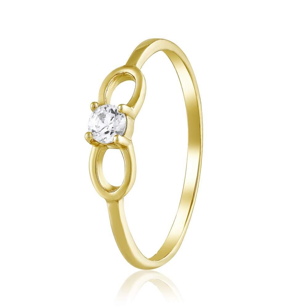 """Кольцо золотое с камнем SWAROVSKI Zirconia """"Севилья"""", желтое золото, КД4176/2SW Эдем"""