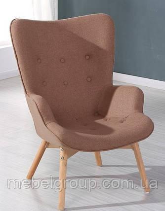 Крісло м'яке Флорино коричневе, фото 2