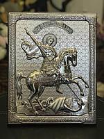 Икона Георгий Победоносец New Daniel Серебро