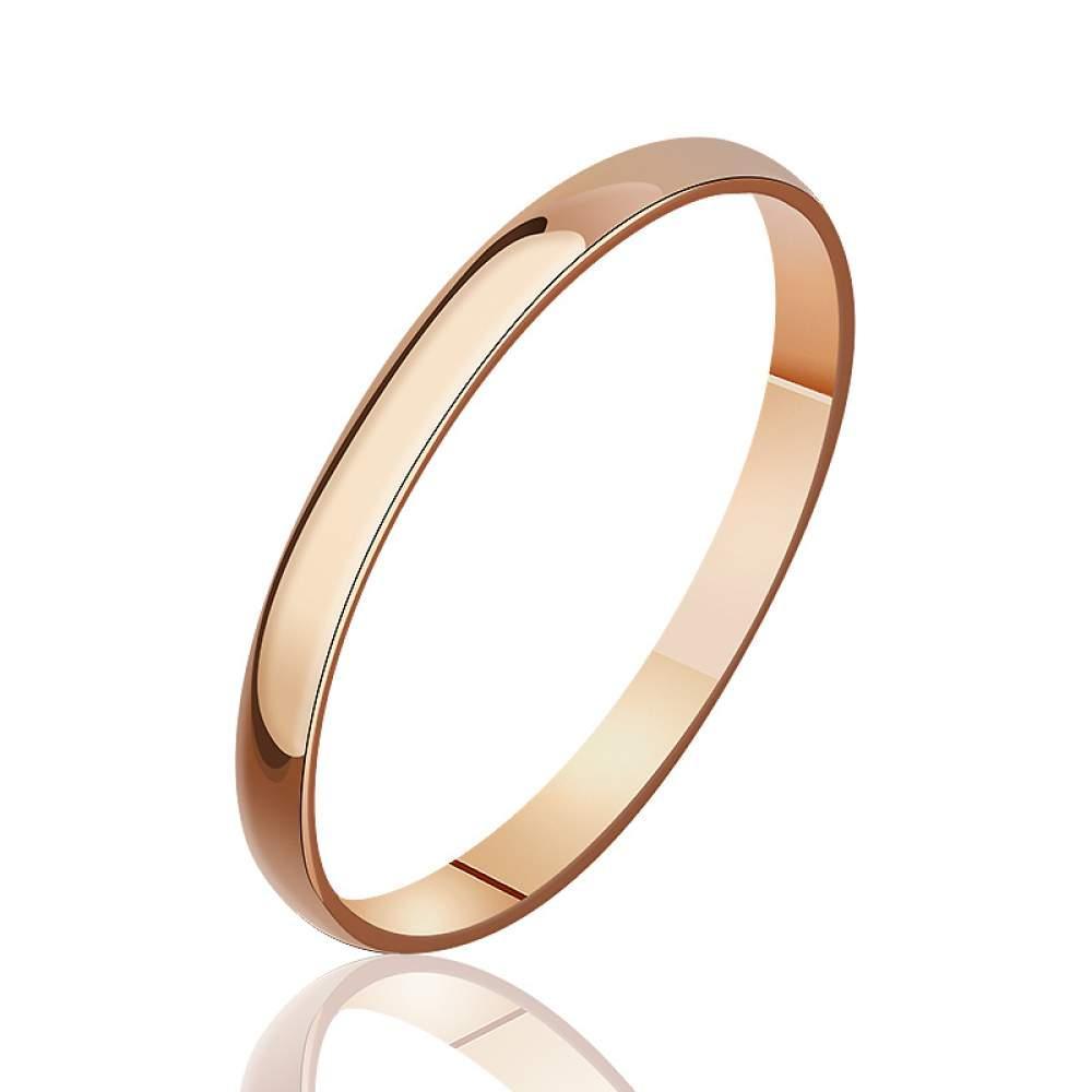 """Классическое тонкое золотое обручальное кольцо """"Минимализм"""", КО025 Eurogold"""