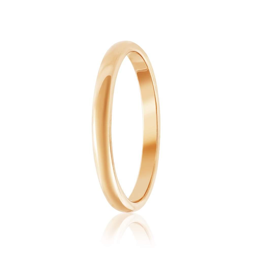 """Золотое обручальное кольцо """"Элегантность"""", КО026 Eurogold"""