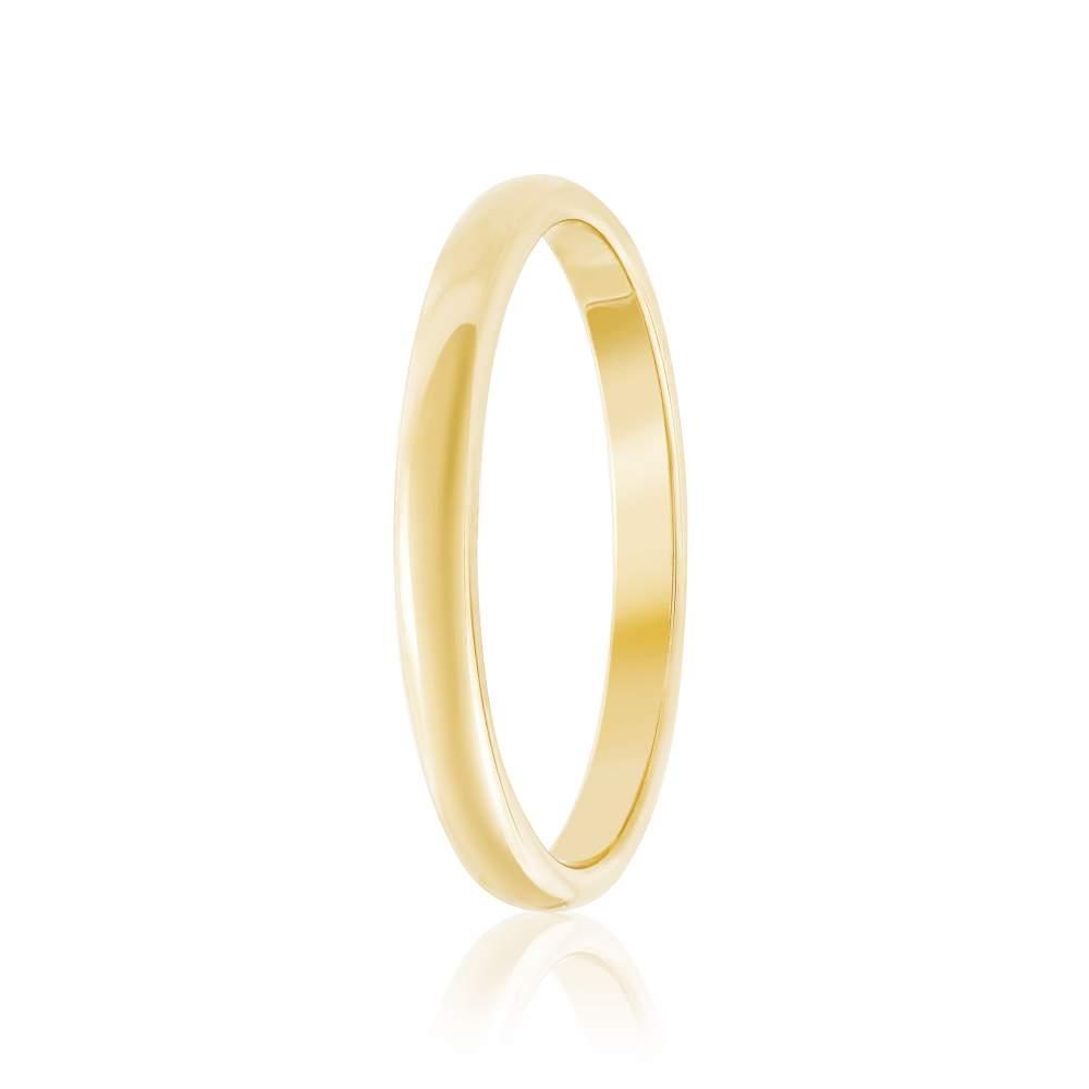"""Золотое обручальное кольцо """"Элегантность"""", желтое золото, КО026/2 Eurogold"""
