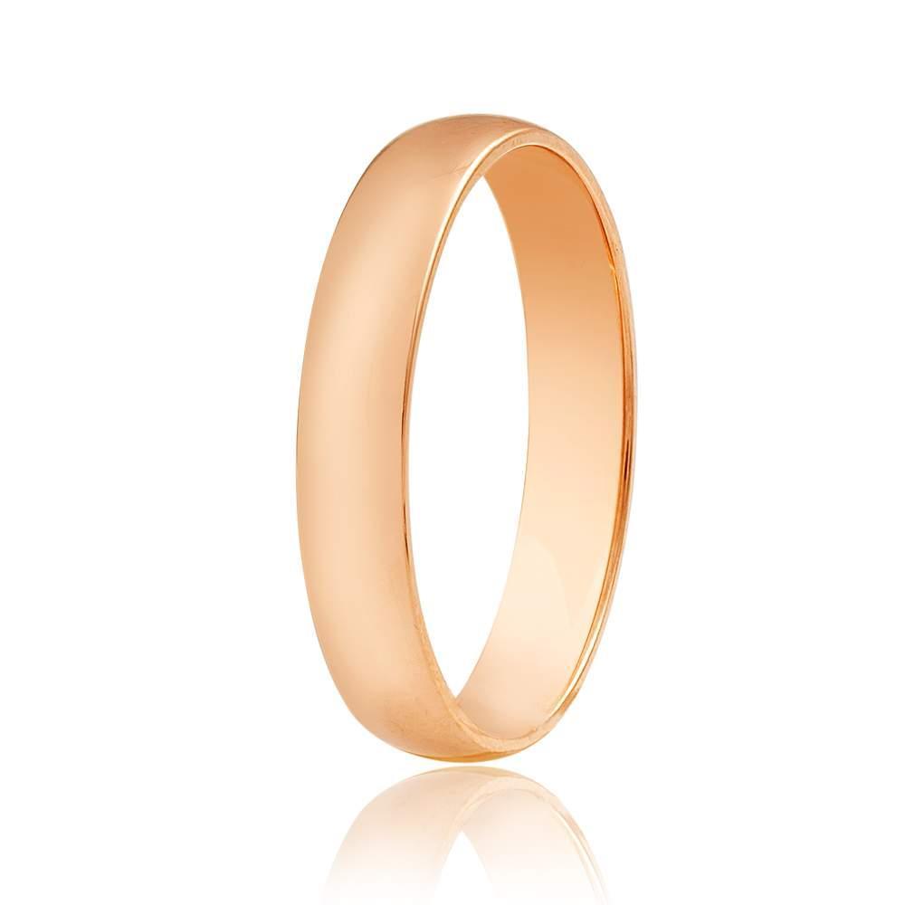 """Обручальное кольцо в классическом стиле """"Тонкая классика"""", КО035 Eurogold"""