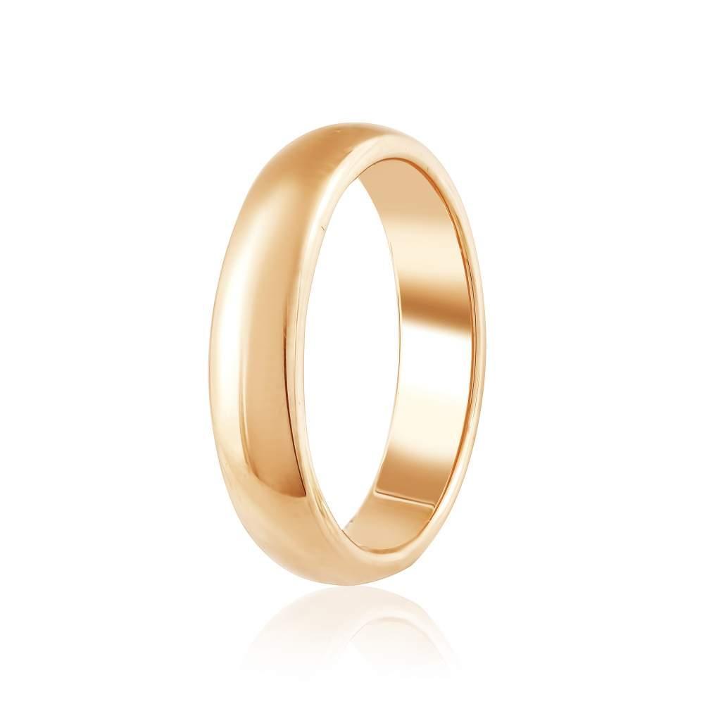 """Золотое обручальное кольцо """"Традиция"""", КО036 Eurogold"""