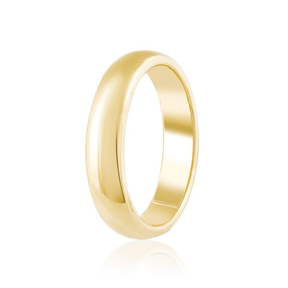"""Золотое обручально кольцо """"Традиция"""", желтое золото, КО036/2 Eurogold"""