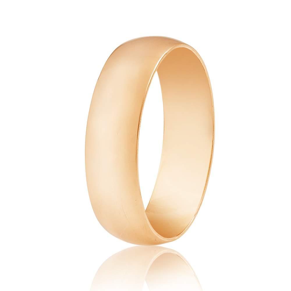 Золотое обручальное кольцо, гладкое, КО050 Eurogold