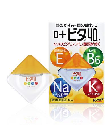 Капли глазные Rohto 40 Vita-alfa витаминизированные 12 мл (100521)