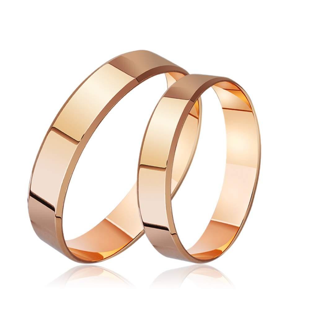 """Обручальное кольцо классическое широкое """"Американка"""", КОА099 Eurogold"""