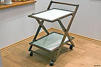 Сервировочный столик складной, массив дуб, ясень, фото 1