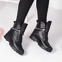 Женские демисезонные   ботинки  черные  натуральная кожа, фото 1