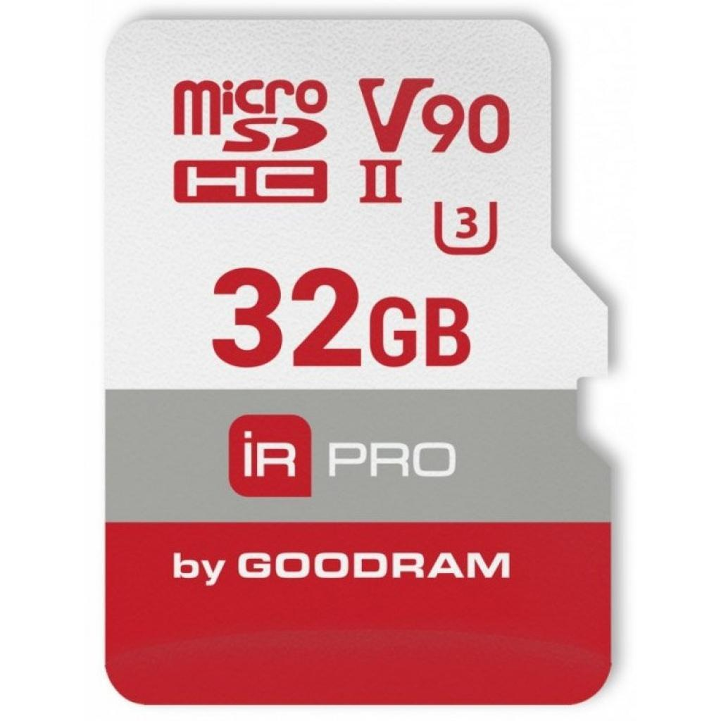 Карта памяти Goodram microSDHC 32GB IRDM PRO UHS-II U3 Сlass 10 (IRP-M9BA-0320R11)