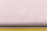 Ткань хлопковая Bora с пятнышками кораллового цвета ( № 322 б), фото 2