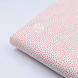 Ткань хлопковая Bora с пятнышками кораллового цвета ( № 322 б), фото 3