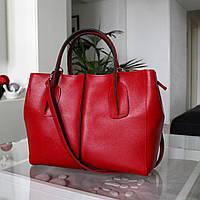 """Женская сумка из натуральной кожи Портофино """"Jessica"""" красная"""