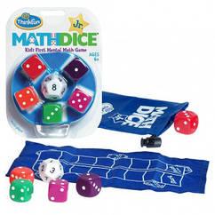 "Игра-головоломка ""Математические кубики""   ThinkFun Math Dice Jr 0717"