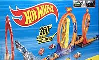 Трек гоночный с мертвыми петлями Hot Wheels 9988-66: 2 машинки в комплекте (реплика), фото 1