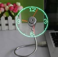 USB вентилятор с проекцией часов