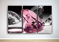 Фотокартина модульная розовый бриллиант