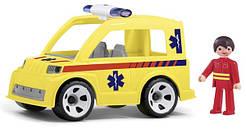 Машинка MultiGO Скорая помощь со спасателем Желтая (23219)