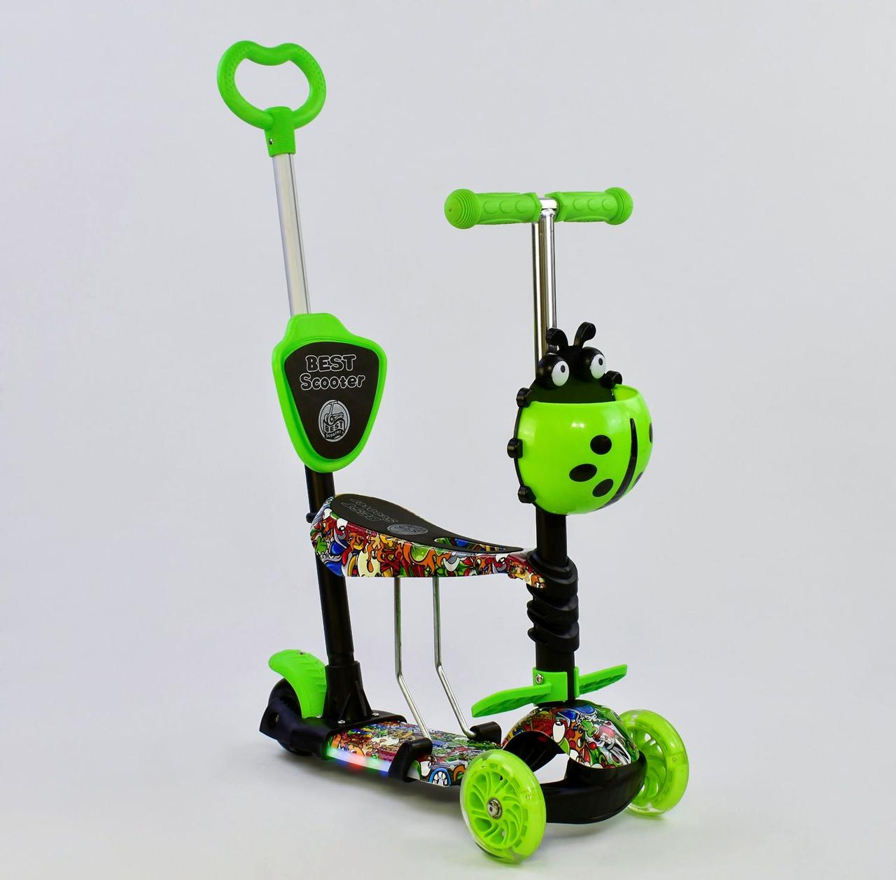 Самокат Best Scooter 59050 Салатовый 5в1 Mini 74042