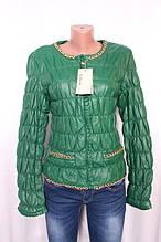 Куртка жіноча утеплена з еко-шкіри