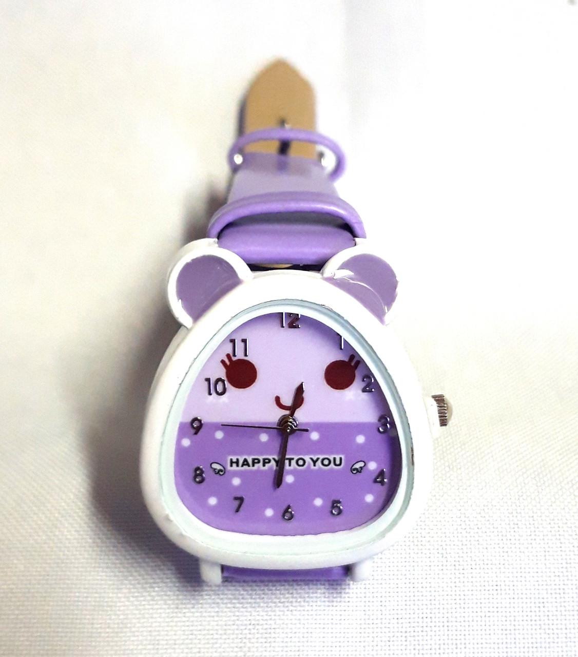 Детские часы, кварцевые сирень
