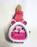 Детские часы, кварцевые малиновые