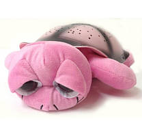 Ночник-проектор черепаха, розовый